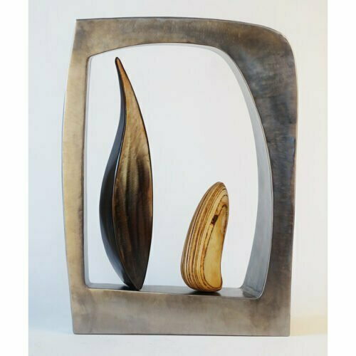 Window-61cmSTAINLESS-STEEL-PLYWOOD-VENEER[table-top]dDonal-Molloy-Drum-australian-abstract-interior-sculpture-japanese-modern-contemporary-sculpture