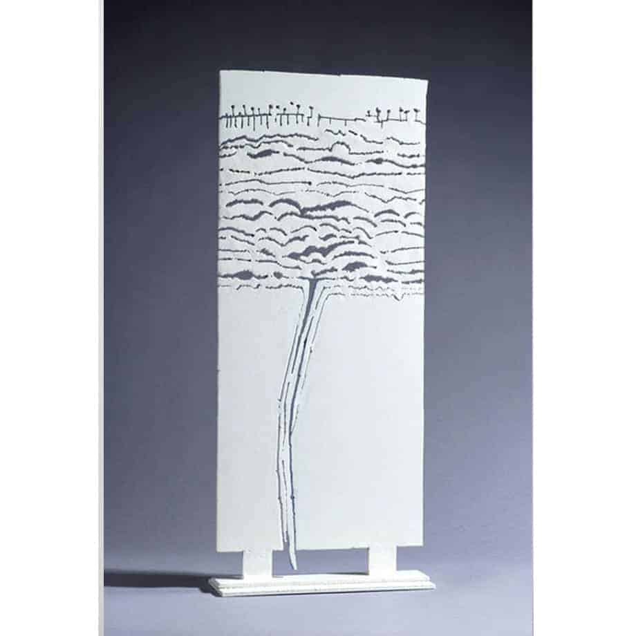 Wyalla-Falls-90x38cm-MILD-STEEL-PAINTED-[stainless-steel,table-top]-Gary-Christian-australian-abstract-yellow-sculpture