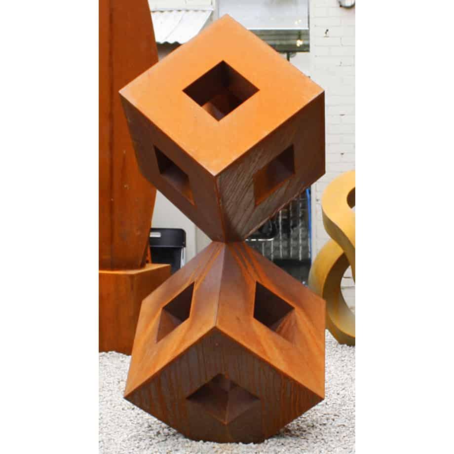 Zenith-190x60cm--CORTEN--[Corten,-outdoor,-landmark]-Pierre-Le-Roux-australian--sculpture-outdoor-garden-cubes
