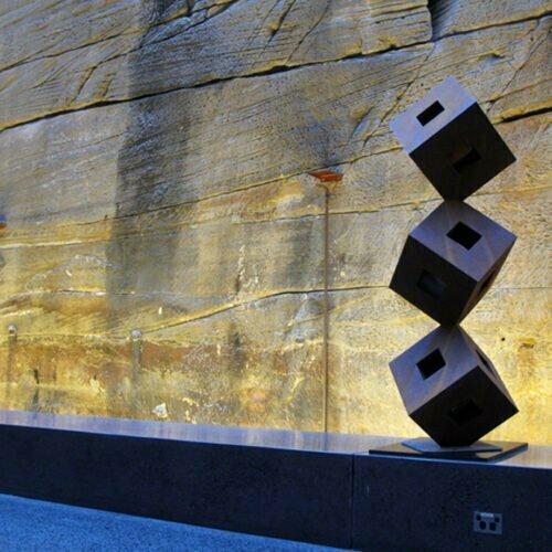Zenith-190x60cm--CORTEN-[Corten,-outdoor,-landmark]-Pierre-Le-Roux-australian--sculpture-outdoor-garden-cubes