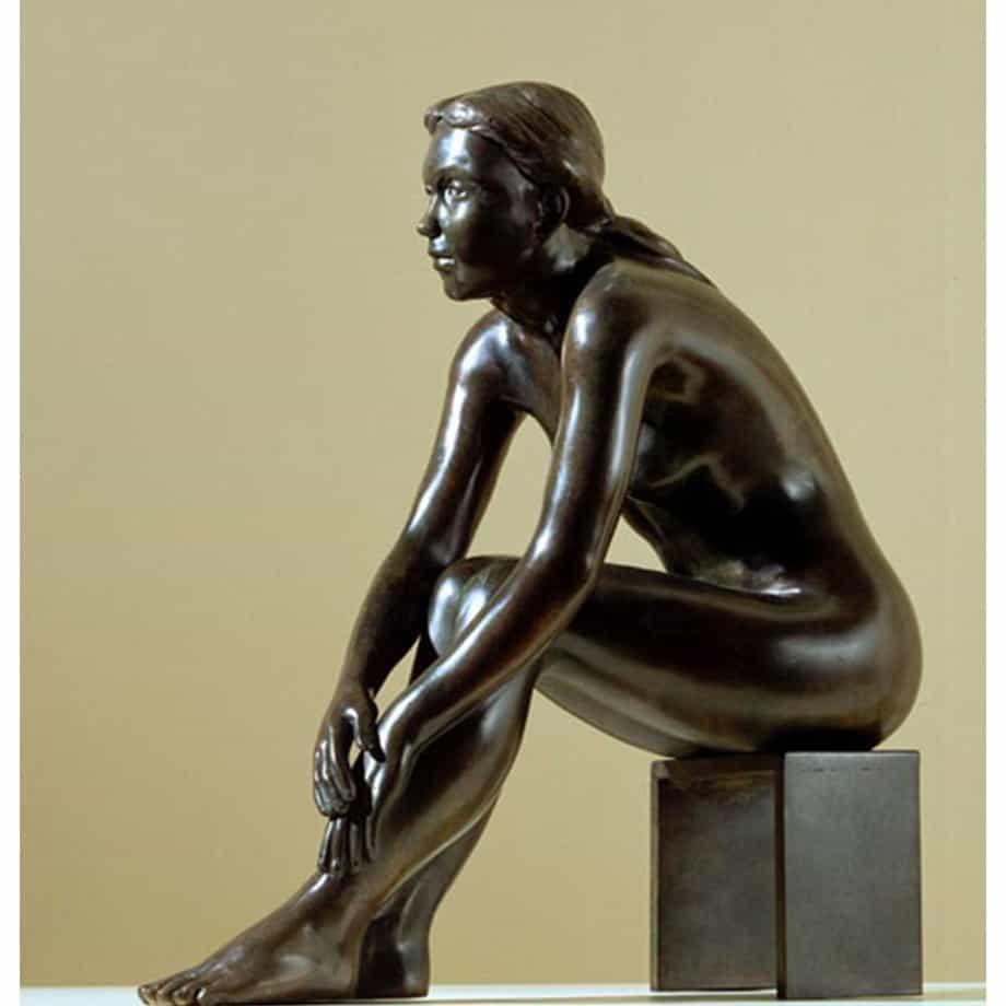 Zofia-44cm-BRONZE-[bronze,table-top,figurative]-phillip-piperidis-nude-sculpture-australian-artist-female-body
