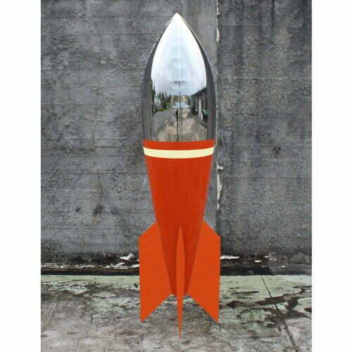 Orange-and-White-210cm-STAINLESS-STEEL-INDUSTRIAL-COATING-[stainless-steel,-free-standing,outdoor]david-mcCracken-rocket-sculpture-australian-artist-pop-art