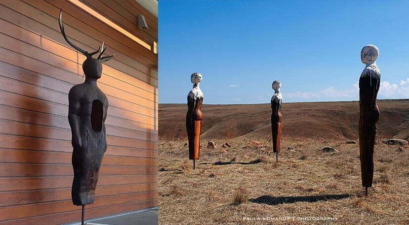 australian outdoor sculpture exterior timber art