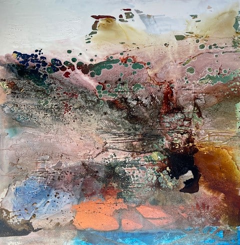 australian painting abstract jewels