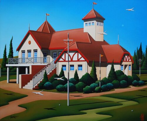 australian painting architectural country house