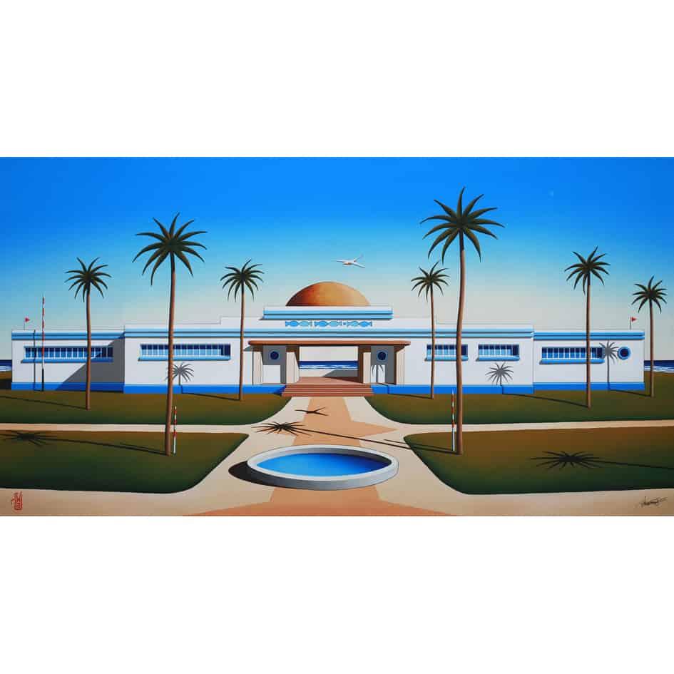 australian painting architectural landscape