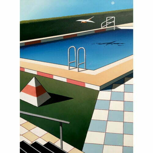 australian painting realist pool