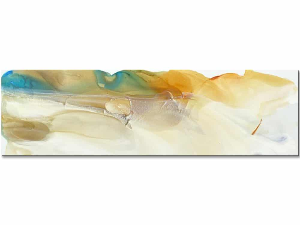 large abstract canvas art in soft tones