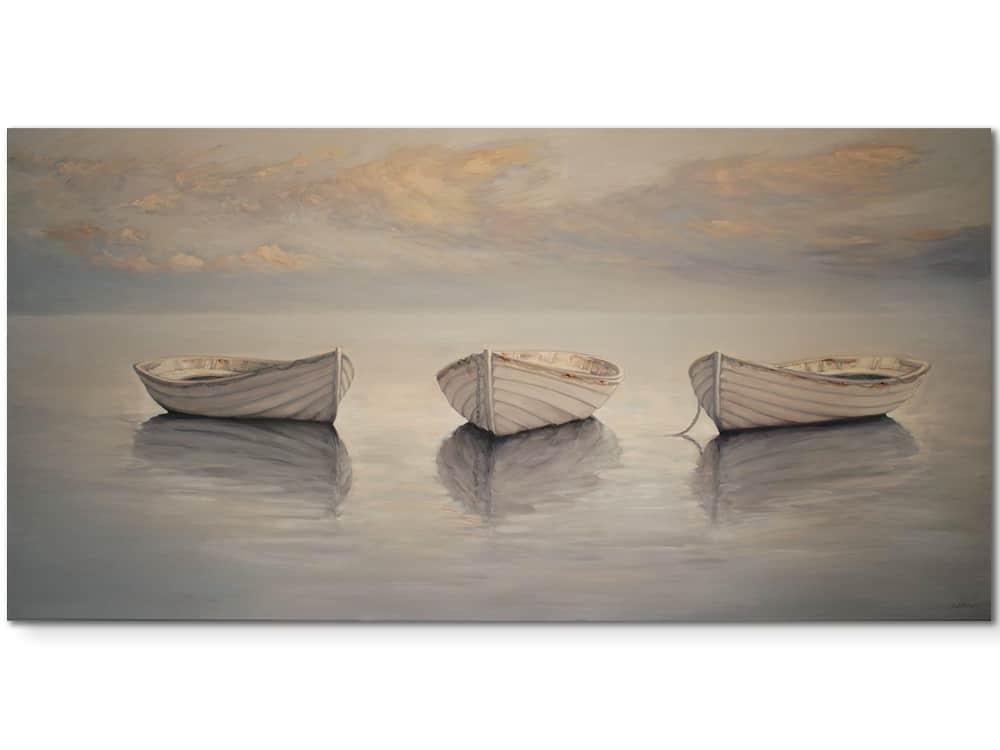 Floating-in-a-silver-sea-102x203cm--original-canvas-artwork-australian-artist-marshall-williams