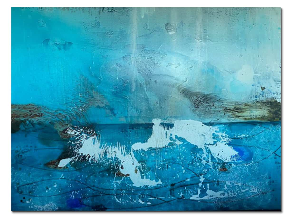 water themed abstract canvas art