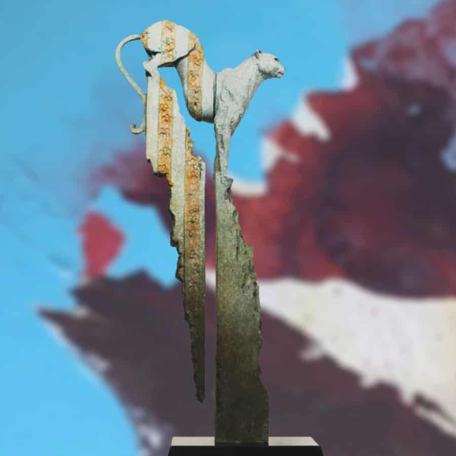 flora and fauna stephen glassborow bronze-figurative-animal sculpture