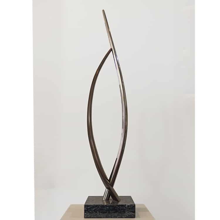 bronze minimalist sculpture