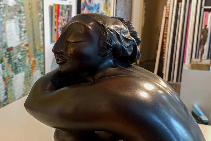 bronze female figurative sculpture