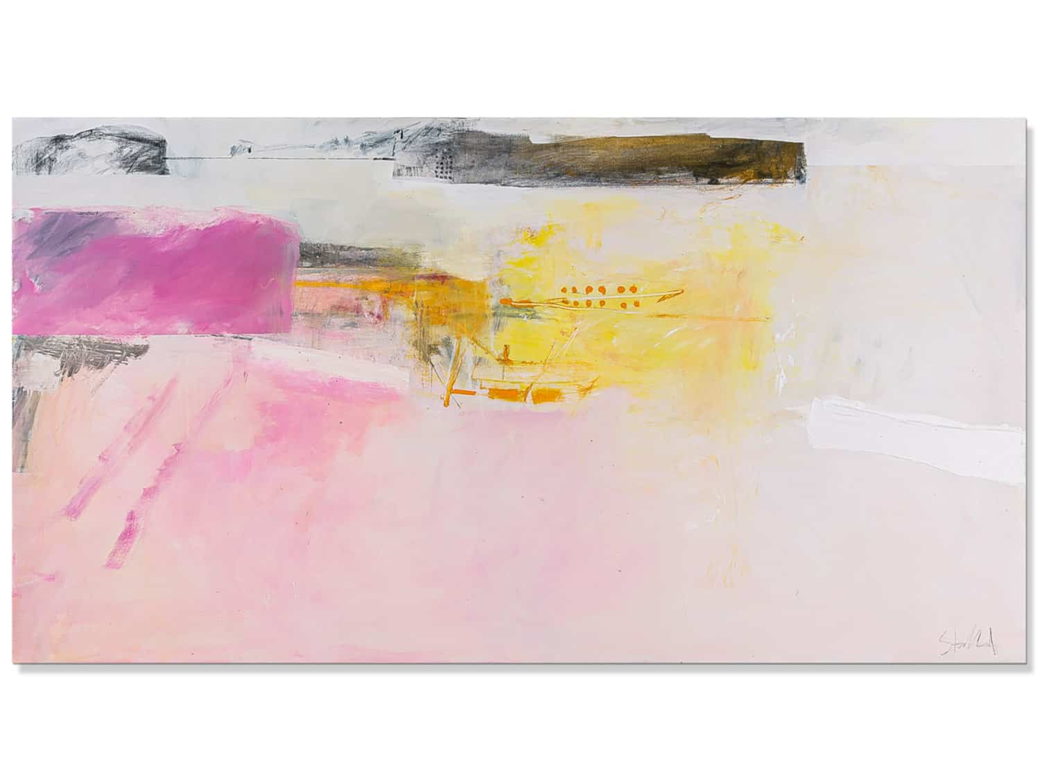 Abstract landscape painting north head memory-Phil stallard